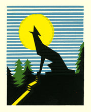 Mi'kmaq Silkscreen - The Cry of the Wolf