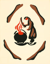 Mi'kmaq Silkscreen - The Magic Pot