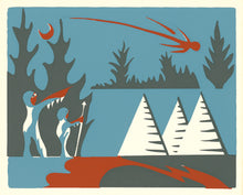 Mi'kmaq Silkscreen - The Shooting Star III
