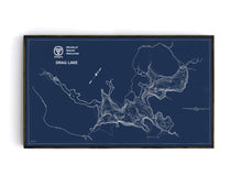 Drag Lake - Bathymetry Map - Haliburton Highlands