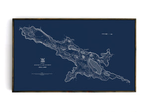 Gull Lake - Bathymetry Map - Haliburton Highlands