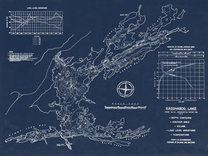 Kashabog Lake - Bathymetry Map - North Kawartha