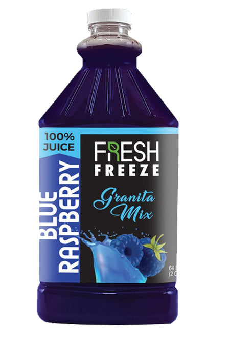 Fresh Freeze 100% Granita Mix Blue Raspberry 6 x 1/2