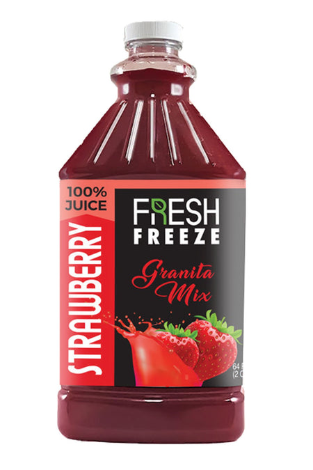 Fresh Freeze 100% Granita Mix Strawberry 6 x 1/2
