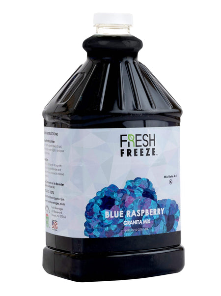 Fresh Freeze Blue Raspberry Granita Syrup 6 x 1/2