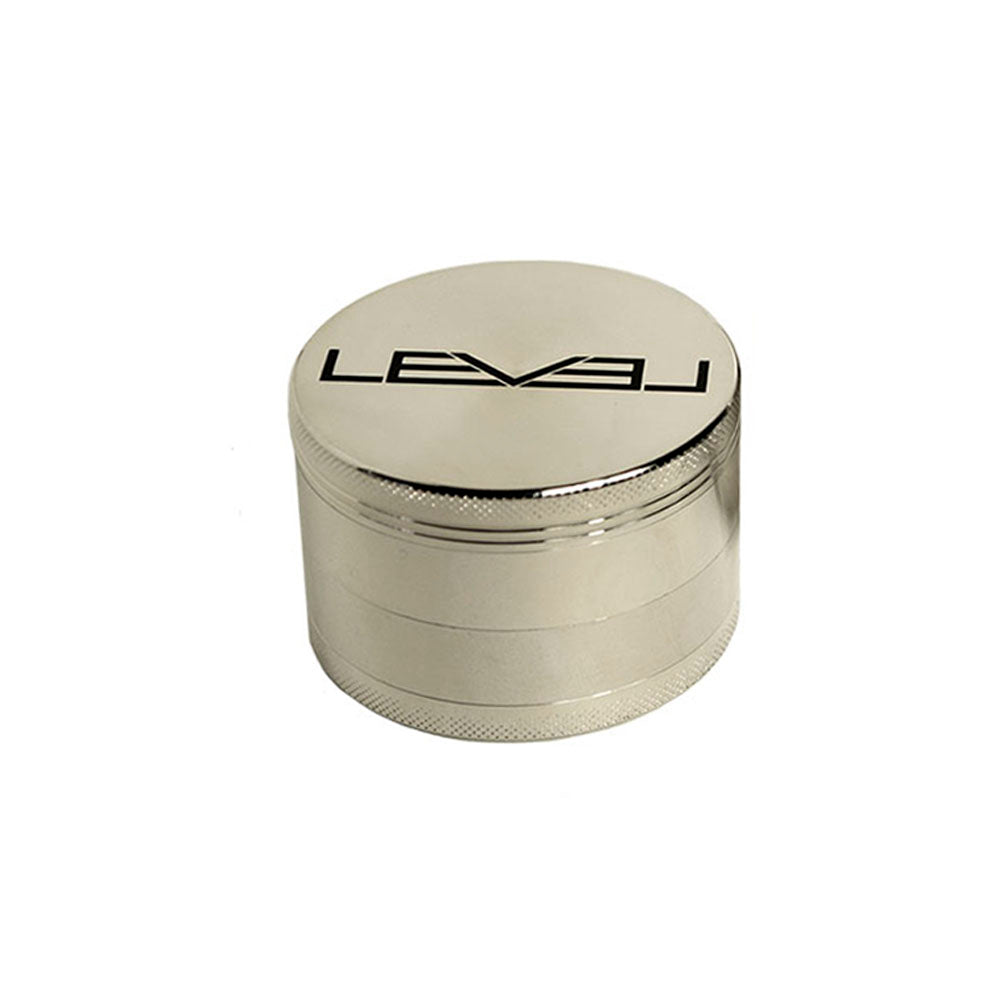 63MM Silver Grinder Black Logo