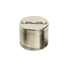 Load image into Gallery viewer, 55MM Silver Grinder Black Logo