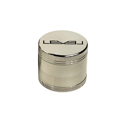 40MM Silver Grinder Black Logo