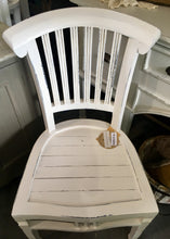 Load image into Gallery viewer, White Distressed Dinning Chair