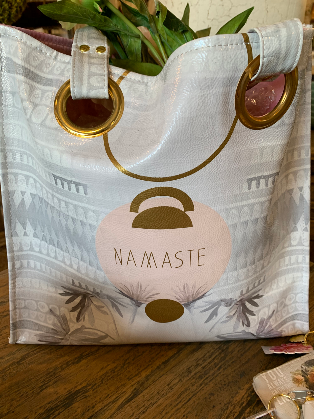 Papaya Luxe Tote Tropical Namaste