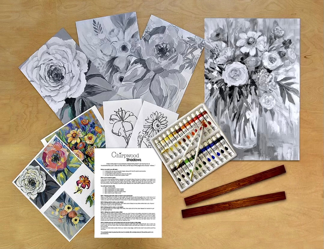 Chirpwood Paint By Shadows Kit Flowers