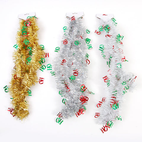Christmas Tinsel Garland.9 Christmas Tinsel Garland With Die Cut Hoho 3 Colors