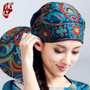 Cheshanf Store (AliExpress) Mexican Style Spring And Autumn Ethnic Vintage Embroidery Flowers Bandanas