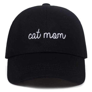 Guangzhou hat factory (AliExpress) Black / 54-62cm CAT MOM Letter embroidery Baseball hat