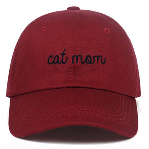 Guangzhou hat factory (AliExpress) Burgundy / 54-62cm CAT MOM Letter embroidery Baseball hat