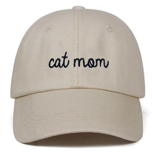 Guangzhou hat factory (AliExpress) Khaki / 54-62cm CAT MOM Letter embroidery Baseball hat