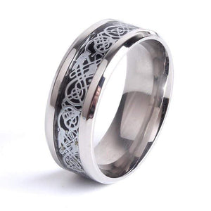 Monla Jewelry Store 6 / Silver color Stainless steel Dragon Ring