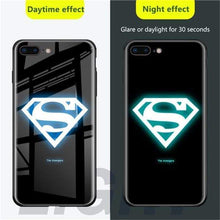 Load image into Gallery viewer, Rawston Store (AliExpress) For iphone x xs / Superman Marvel Avengers Batman Luminous Tempered Glass Case for iPhone
