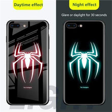 Load image into Gallery viewer, Rawston Store (AliExpress) For iphone xr / Spider Marvel Avengers Batman Luminous Tempered Glass Case for iPhone