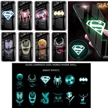 Load image into Gallery viewer, Rawston Store (AliExpress) Marvel Avengers Batman Luminous Tempered Glass Case for iPhone