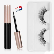 Load image into Gallery viewer, The KedStore 11 3 Pairs Magnetic Eyelashes set & Magnet Liquid Eyeliner & Tweezer Waterproof Long Lasting Eyelashes