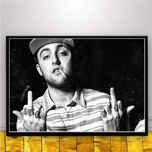 The KedStore 15x20 CM No Frame / Burgundy Rapper R.I.P Mac Miller Swimming  Music Singer Star Poster Wall Art Canvas Painting