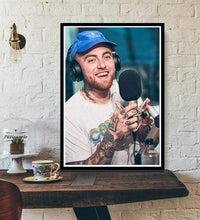Load image into Gallery viewer, The KedStore 15x20 CM No Frame / Light Yellow Rapper R.I.P Mac Miller Swimming  Music Singer Star Poster Wall Art Canvas Painting