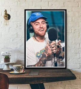 The KedStore 15x20 CM No Frame / Light Yellow Rapper R.I.P Mac Miller Swimming  Music Singer Star Poster Wall Art Canvas Painting