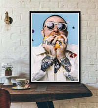 Load image into Gallery viewer, The KedStore 15x20 CM No Frame / MULTI Rapper R.I.P Mac Miller Swimming  Music Singer Star Poster Wall Art Canvas Painting