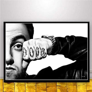 The KedStore 15x20 CM No Frame / Red Rapper R.I.P Mac Miller Swimming  Music Singer Star Poster Wall Art Canvas Painting
