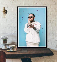 Load image into Gallery viewer, The KedStore 15x20 CM No Frame / violet Rapper R.I.P Mac Miller Swimming  Music Singer Star Poster Wall Art Canvas Painting