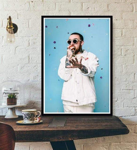 The KedStore 15x20 CM No Frame / violet Rapper R.I.P Mac Miller Swimming  Music Singer Star Poster Wall Art Canvas Painting