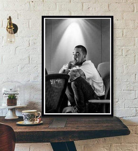 The KedStore 15x20 CM No Frame / White Rapper R.I.P Mac Miller Swimming  Music Singer Star Poster Wall Art Canvas Painting