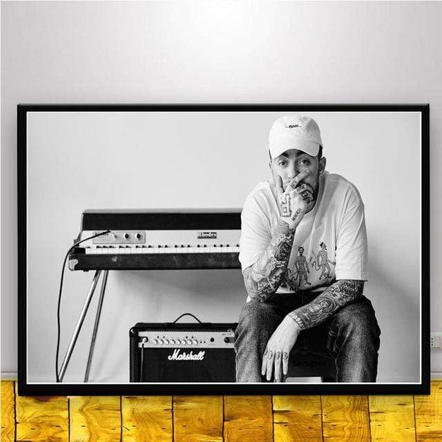 The KedStore 15x20 CM No Frame / YELLOW Rapper R.I.P Mac Miller Swimming  Music Singer Star Poster Wall Art Canvas Painting