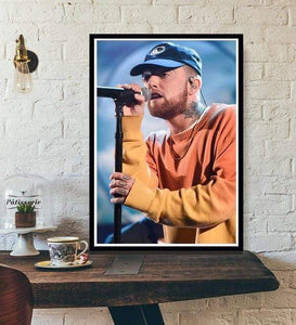The KedStore 20x25 CM No Frame / Pink Rapper R.I.P Mac Miller Swimming  Music Singer Star Poster Wall Art Canvas Painting
