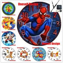 Load image into Gallery viewer, The KedStore 5d diamond painting clock Spiderman diamond embroidery sale 5d diamond mosaic sale clock wall sticker | TheKedStore