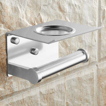 Load image into Gallery viewer, The KedStore Aluminum Matte Bathroom Toilet Paper Holder with a Shelf