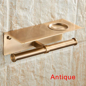 The KedStore Antique Bathroom Toilet Paper Holder with a Shelf
