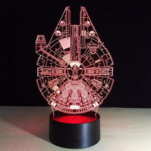 Load image into Gallery viewer, The KedStore B / Remote Touch Switch Star Wars 3D USB LED Lamp Death Star lava Night Lamp