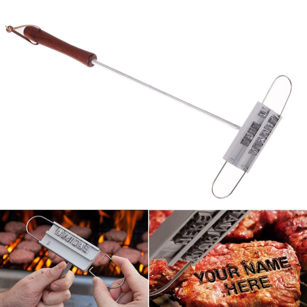 The KedStore BBQ Branding Iron 17in Tong 55 Letters DIY Barbecue Letter Printed BBQ Steak | TheKedStore