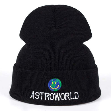 The KedStore Beanie ASTROWORLD Knit Cap Embroiderd