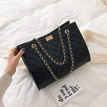 Load image into Gallery viewer, The KedStore Black / 32cm 15cm 24cm Luxury Handbags Designer Leather Chain Large Shoulder Bag Tote