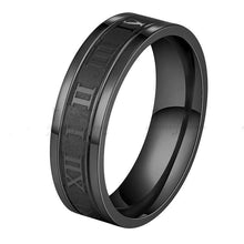 Load image into Gallery viewer, The KedStore Black / 6 Numerals Ring