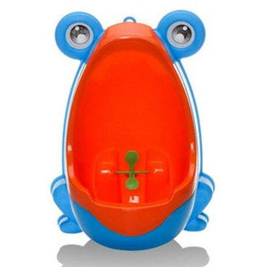 The KedStore Blue/Red Frog Kids Potty Toilet Urinal Boy Pee Trainer Children Wall-Mounted Toilet Baby Bathroom Urinal