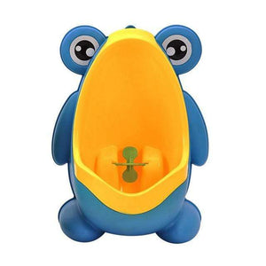 The KedStore Blue/Yellow Frog Kids Potty Toilet Urinal Boy Pee Trainer Children Wall-Mounted Toilet Baby Bathroom Urinal