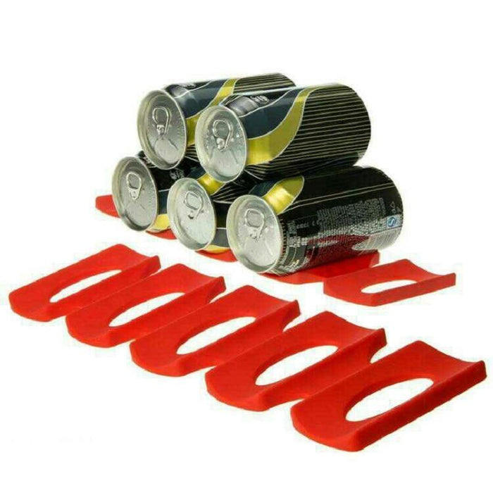 The KedStore Bottle & Can Organizer Foldable Wine Rack. Space Saver Stacking Tool for Kitchen