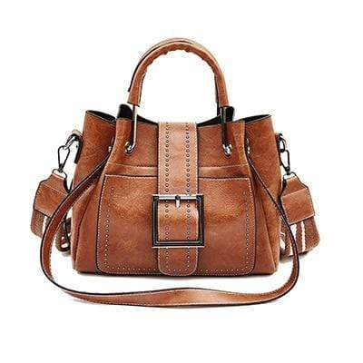 The KedStore Brown / 28cm Fashion Handbag - Vintage style