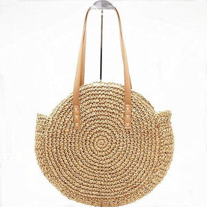 The KedStore brown / big Ladies Large handbag - hand-woven big straw bag - beach holiday bag