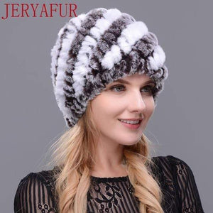 The KedStore COLOR1 Real fur hat handmade