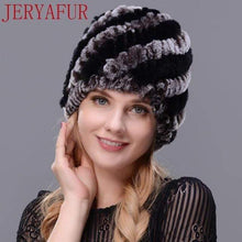 Load image into Gallery viewer, The KedStore COLOR4 Real fur hat handmade